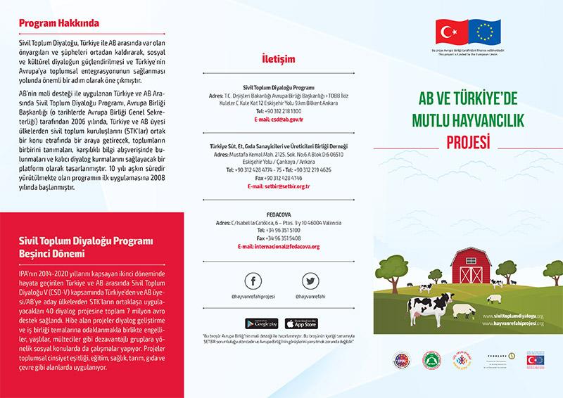 Mutlu Hayvancılık Projesi Broşürü